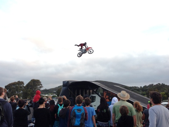 Motorcycle Jumping, Albany Show