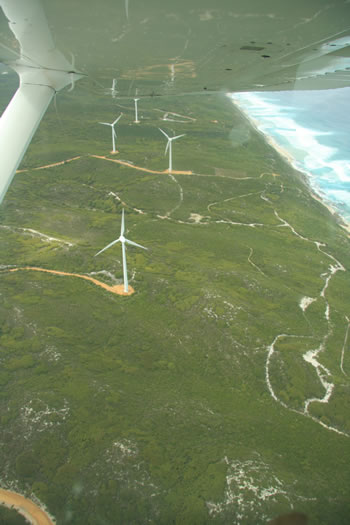 Aerial Photograph of Albany Wind Farm, Western Australia - by Air