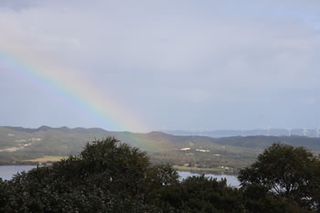 Rainbow over Albany Wind Farm, Western Australia