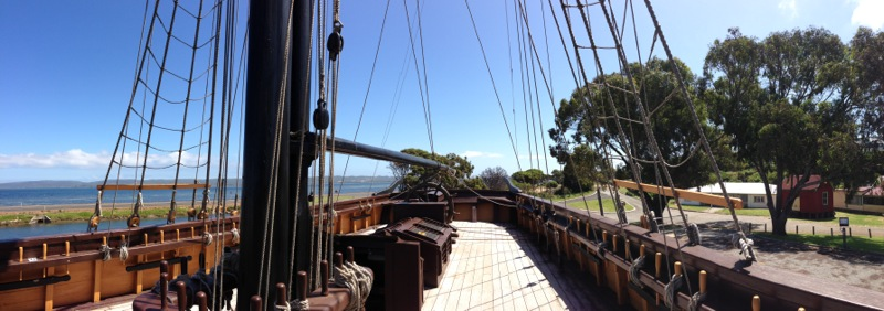 Aboard the Brig Amity Replica - Panoramic Photograph