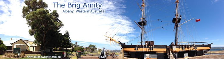 The Brig Amity Replica - Panoramic Photograph