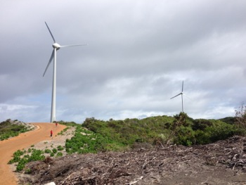 Denmark Community Windfarm Turbines on Wilson Head, Denmark WA