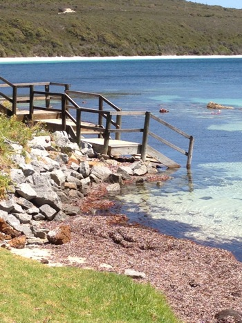 Frenchman Bay Boat Launch and Pier Stairs,Torndirrup