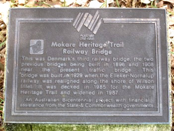 Mokare Heritage Trail Railway Bridge Sign