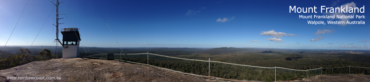 Mount Frankland National Park, Panoramic Photograph from the Summit