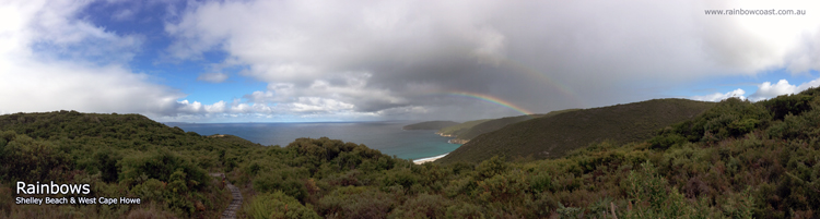 Rainbows over Shelley Beach, West Cape Howe, Western Australia