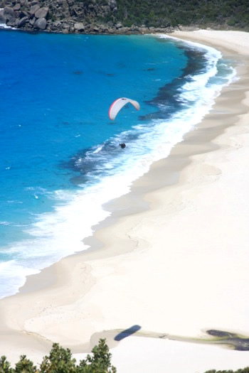 Paragliding over Shelley Beach, Albany