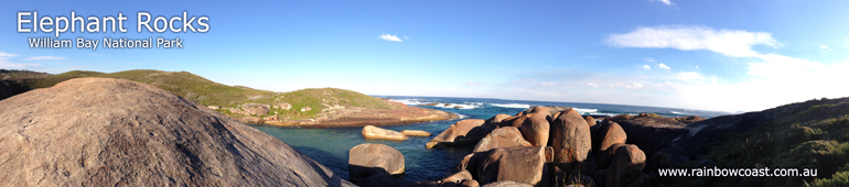 Elephant Rocks and Elephant Cove at William Bay National Park