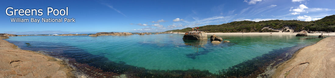 Greens Pool Panoramic Photograph, William Bay National Park, Denmark, Western Australia